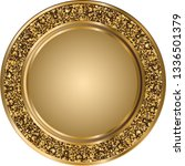 glitter round gold template... | Shutterstock .eps vector #1336501379