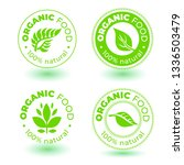 vector set of  green design... | Shutterstock .eps vector #1336503479