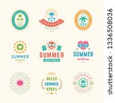 summer holidays labels and... | Shutterstock .eps vector #1336508036