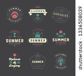 summer holidays labels and... | Shutterstock .eps vector #1336508039
