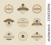 bakery logos and badges design... | Shutterstock .eps vector #1336510046