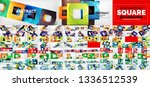 huge mega collection of square... | Shutterstock .eps vector #1336512539
