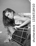 purchase  buyer girl  sale ...   Shutterstock . vector #1336518410