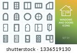 windows and doors icons set.... | Shutterstock .eps vector #1336519130