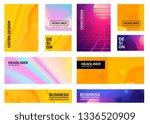 vector big set of creative... | Shutterstock .eps vector #1336520909