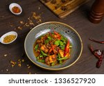 thai asian cuisine food on... | Shutterstock . vector #1336527920
