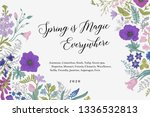 spring magic. horizontal card.... | Shutterstock .eps vector #1336532813