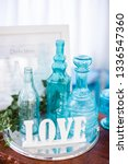 love sign   collection of blue... | Shutterstock . vector #1336547360