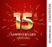 15 golden numbers and... | Shutterstock .eps vector #1336550336