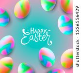 happy easter background... | Shutterstock .eps vector #1336556429