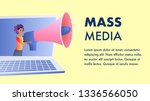 mass media website vector flat...