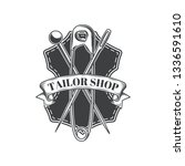 tailor shop vintage isolated... | Shutterstock .eps vector #1336591610