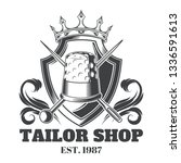 tailor shop vintage isolated... | Shutterstock .eps vector #1336591613
