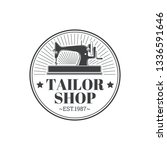 tailor shop vintage isolated... | Shutterstock .eps vector #1336591646