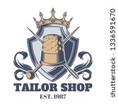 tailor shop vintage isolated... | Shutterstock .eps vector #1336591670