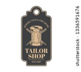 tailor shop vintage isolated... | Shutterstock .eps vector #1336591676