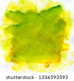 green watercolor background on... | Shutterstock . vector #1336593593