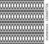 design seamless monochrome grid ... | Shutterstock .eps vector #1336607726
