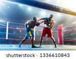 box professional figters on the ... | Shutterstock . vector #1336610843