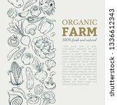 different vegetables vector... | Shutterstock .eps vector #1336612343