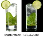 a couple of identical cocktails ... | Shutterstock . vector #133662080