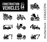 construction vehicle and... | Shutterstock .eps vector #1336622396