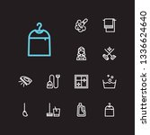 laundry icons set. cleaning...