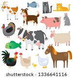 a set of cute quirky farm... | Shutterstock .eps vector #1336641116
