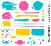 paint brush strokes  grunge... | Shutterstock .eps vector #1336643180