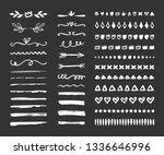 hand drawn borders  brackets ... | Shutterstock .eps vector #1336646996
