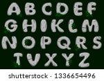 cartoon grey stone alphabet...