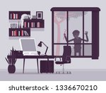 thief planning the house... | Shutterstock .eps vector #1336670210