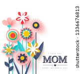 happy mother's day greeting... | Shutterstock .eps vector #1336676813