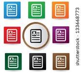 resume sign vector   Shutterstock .eps vector #133668773