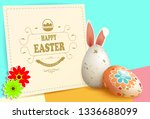 easter multicolor composition... | Shutterstock .eps vector #1336688099