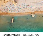 ocean landscape with rocks and...   Shutterstock . vector #1336688729