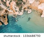 ocean landscape with rocks and... | Shutterstock . vector #1336688750