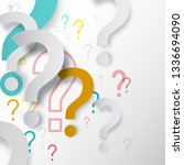 question marks background.... | Shutterstock .eps vector #1336694090