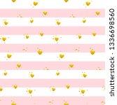 pink gold striped seamless... | Shutterstock .eps vector #1336698560