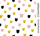 tulip flower hand drawn... | Shutterstock .eps vector #1336698680