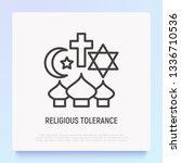 religious tolerance thin line...   Shutterstock .eps vector #1336710536
