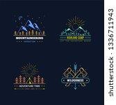 set of badge design for outdoor ... | Shutterstock .eps vector #1336711943