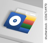 cd disc icon. from collection... | Shutterstock .eps vector #1336714970