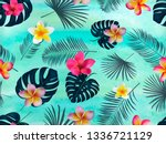 seamless  vector pattern with ... | Shutterstock .eps vector #1336721129