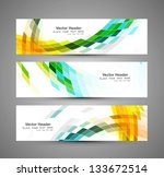 abstract business three... | Shutterstock .eps vector #133672514