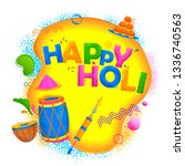 illustration of colorful happy... | Shutterstock .eps vector #1336740563