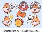 sticker collection of emoji... | Shutterstock .eps vector #1336753823