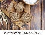 Sliced Homemade Bread On The...