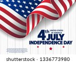 happy 4th of july usa... | Shutterstock .eps vector #1336773980