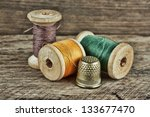 Still Life Of Spools Of Thread...